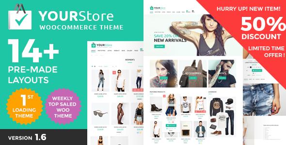 YourStore Theme wordpress bán hàng chuyên nghiệp của Woocommerce