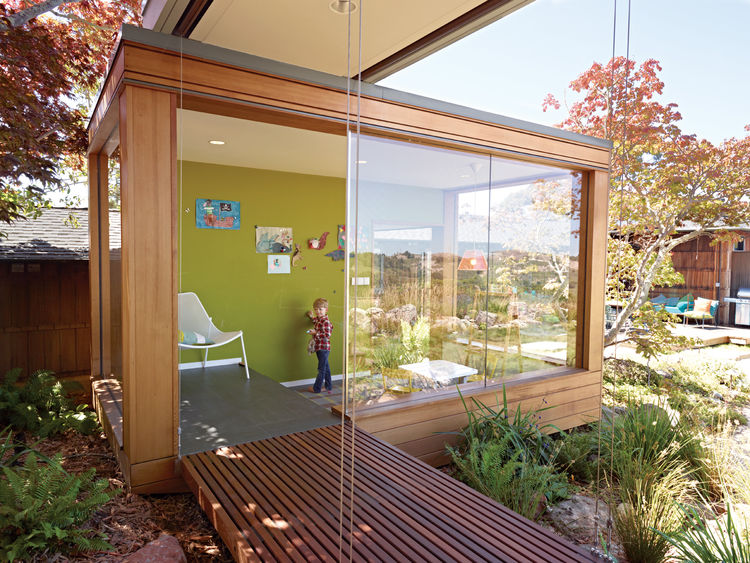 Modular additions to existing home modern prefab modular for Modern prefab additions