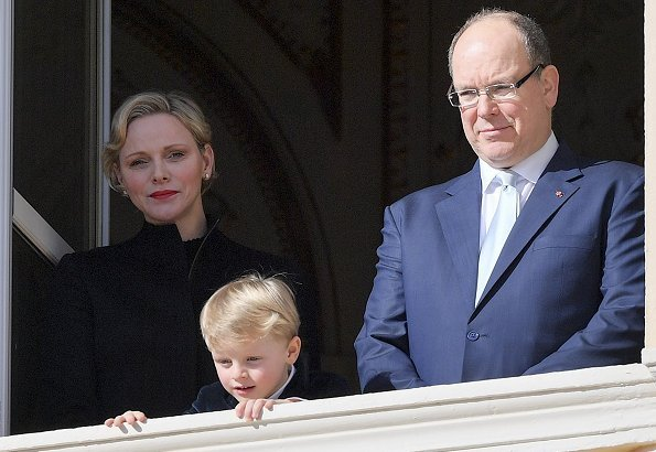 Princess Charlene wore DIOR spectadior thigh boot in stretch suede calfskin