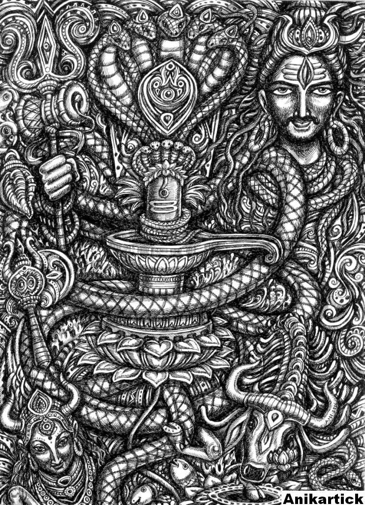 SHIVA ART / GOD SHIVA ART / GOD SHIVA DRAWINGS / LORD SHIVA