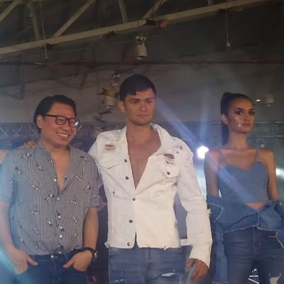 Matteo Guidicelli's collection of limited edition ripped jeans makes its debut at the launch of Shopee Celebrity Club