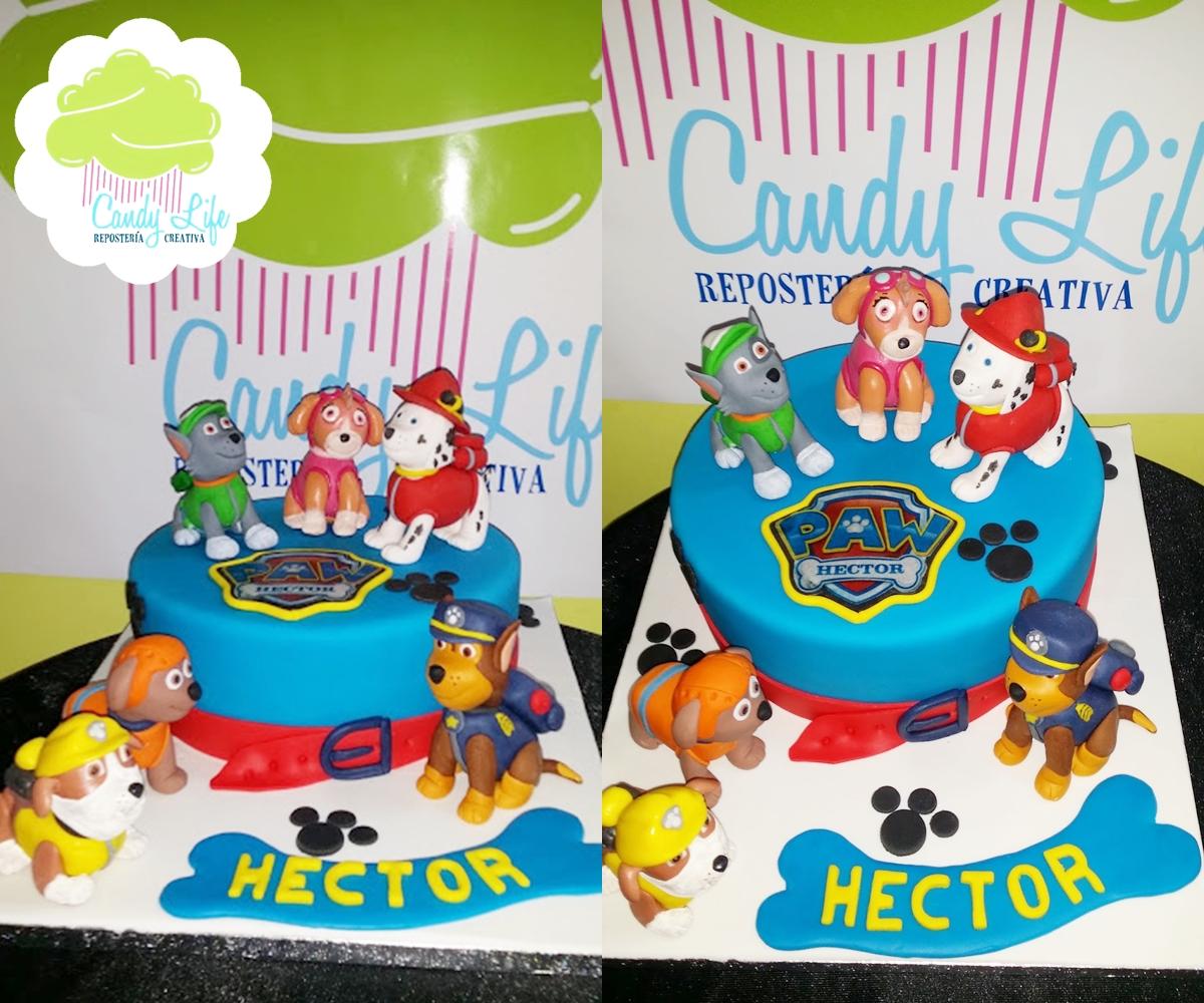Candy Life Toledo: Tarta fondant de la Patrulla Canina y galletas ...