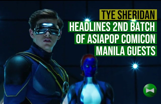 Ready Player One Lead Actor Tye Sheridan headlines Second Batch of Guests at AsiaPOP Comicon Manila 2018