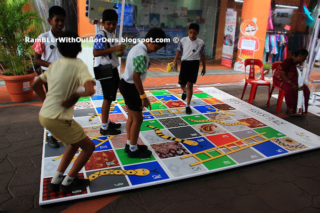 Board game of Snakes and Ladders, Campbell Lane, Singapore