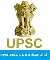 UPSC NDA NA II Admit Card