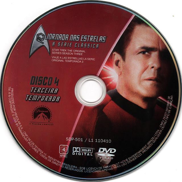 Label DVD Jornada nas Estrelas A Série Clássica Terceira Temporada Disco 4 (Oficial)