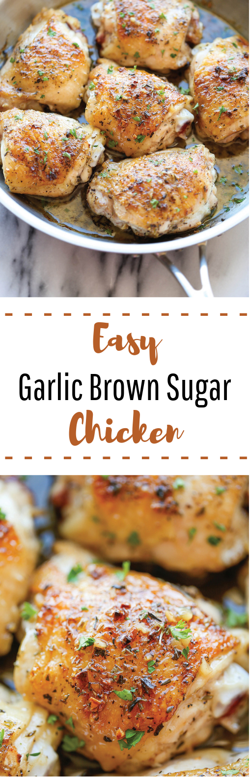 Garlic Brown Sugar Chicken #lowcarb #healthy