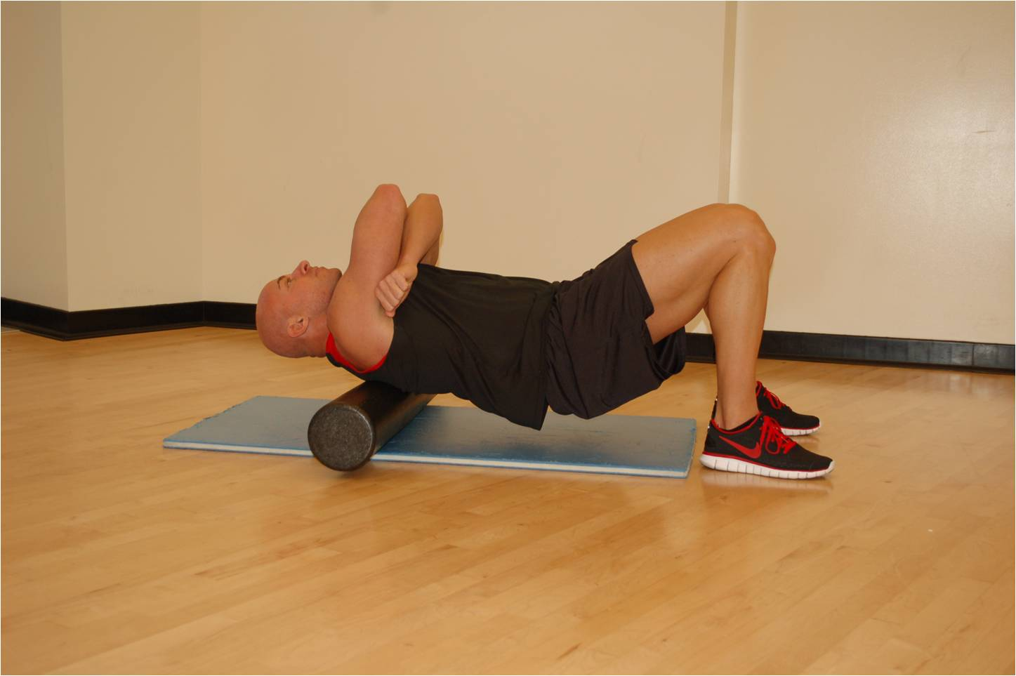 Fit day, foam roller for upper back pain relief