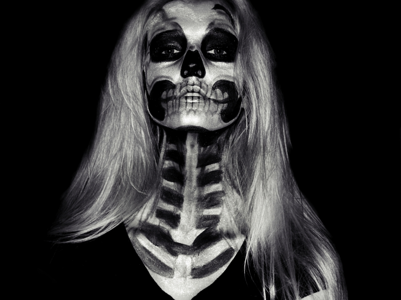 Halloween - Skull Makeup Tutorial