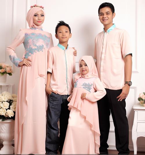 model baju seragam keluarga untuk lebaran