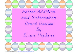 FREEBIE Easter Egg Addition and Subtraction Board Games
