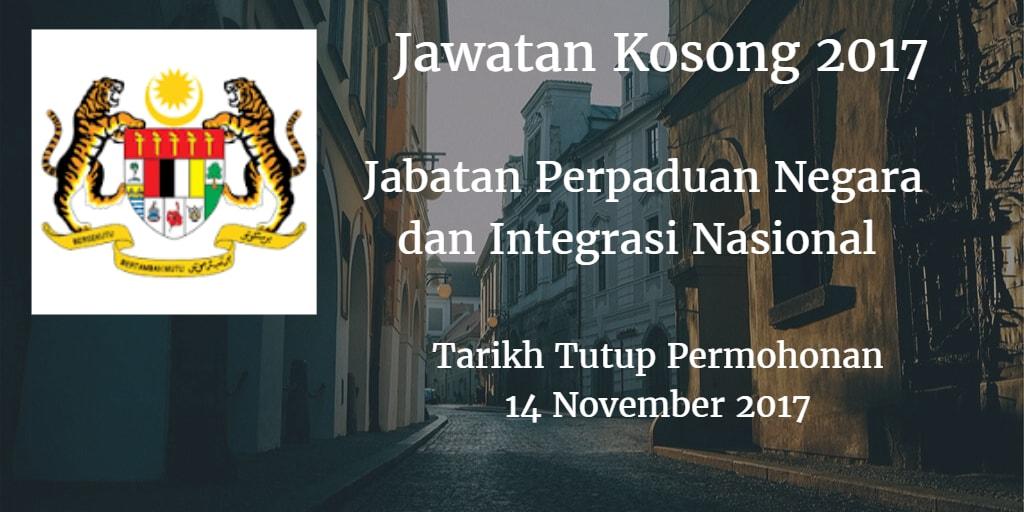 Jawatan kosong JPNIN 14 November 2017