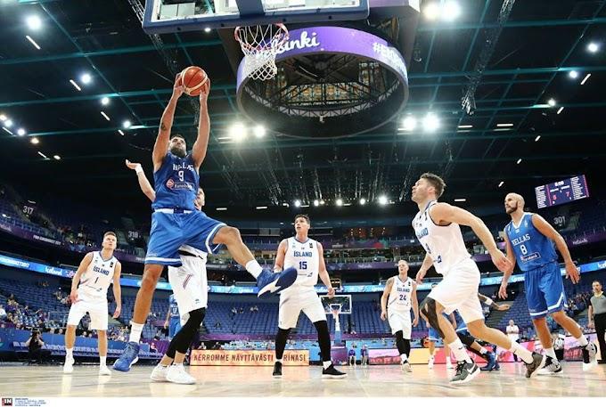 Φωτορεπορτάζ και τα καλύτερα στιγμιότυπα από τον αγώνα της Εθνικής Ανδρών με την Ισλανδία και το αφιέρωμα της FIBA στον Παππά