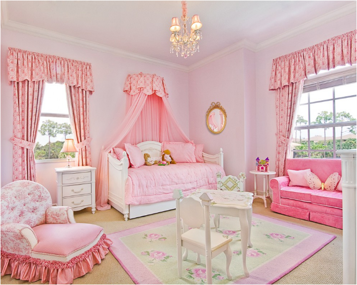 7 Inspiring Kid Room Color Options For Your Little Ones: Girly Girl Vintage Style Bedrooms