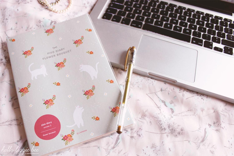 kawaii blogger, cute kitty organiser, diary