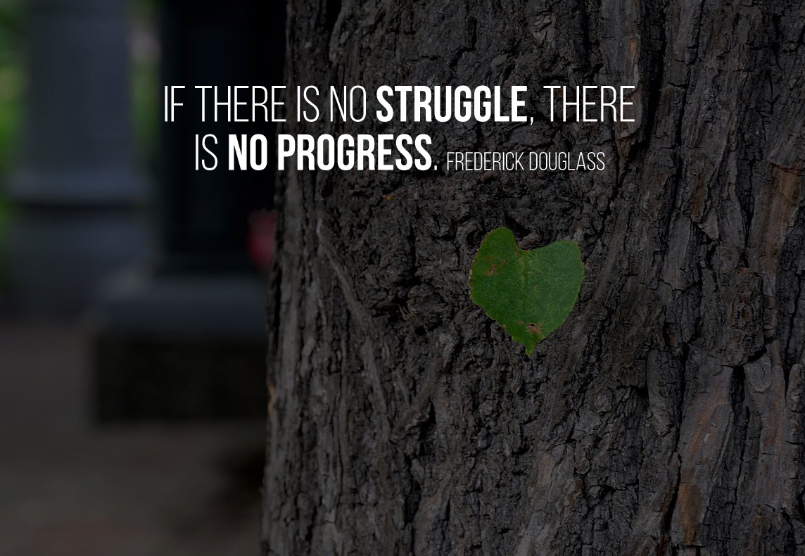 If there is no struggle, there is no progress.Frederick Douglass