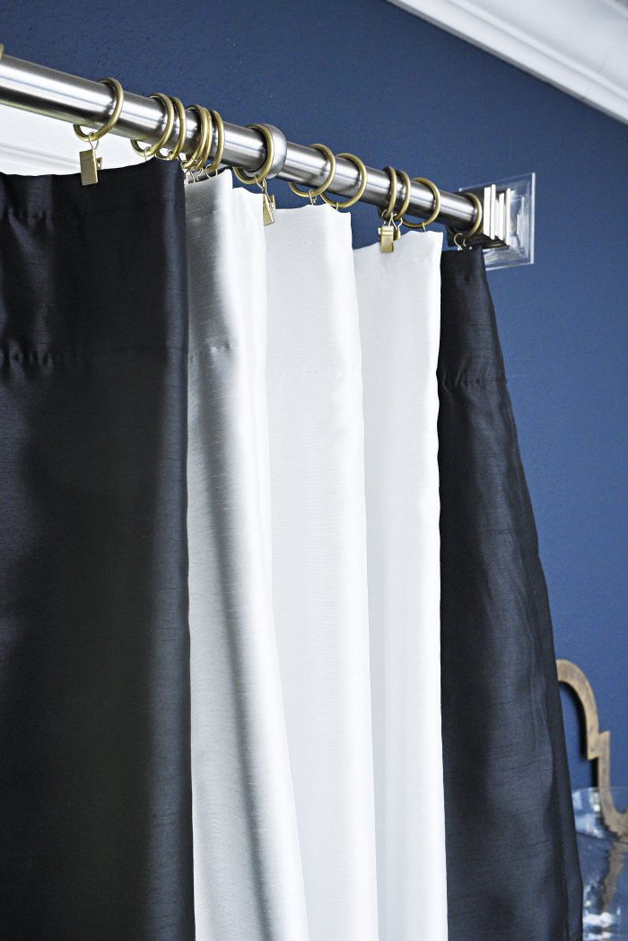use curtain clips to hang curtains