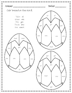 Classroom Freebies Too: Easter Dolch Words