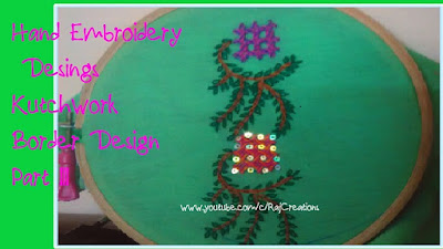 how to make border in kutch work/ gujrati stitch