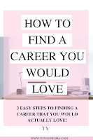 the top steps to be able to find a career you will love