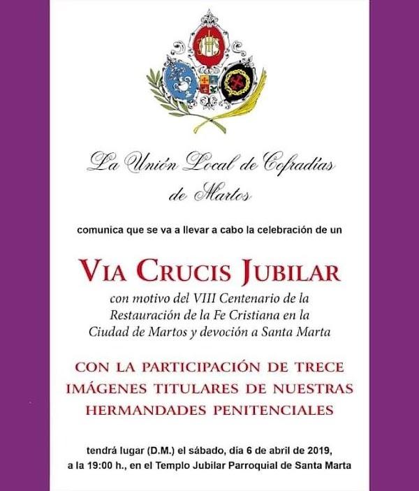 Martos celebrará un Vía Crucis extraordinario con motivo de su Año Jubilar