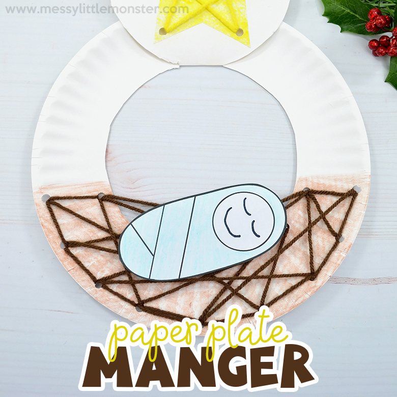 Baby Jesus in a Manger Nativity Craft