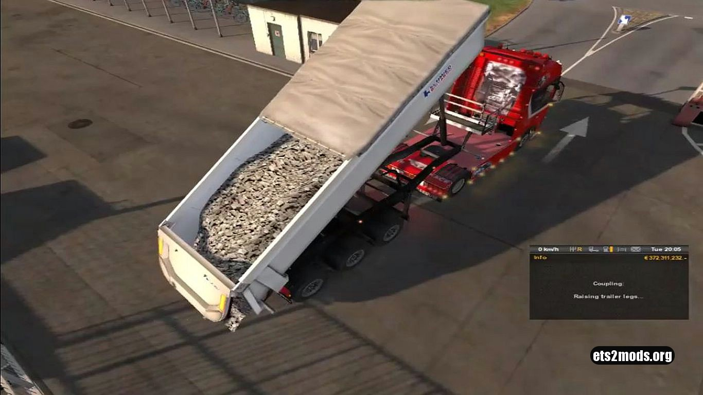 Realistic Animation for Dump Trailer
