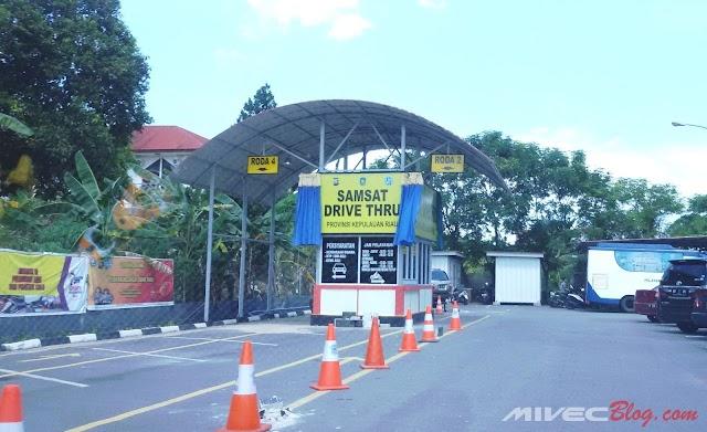 Samsat Batam Center Buka Layanan Samsat Drive Thru, Bayar Pajak Nggak Perlu Turun Dari Motor/Mobil!