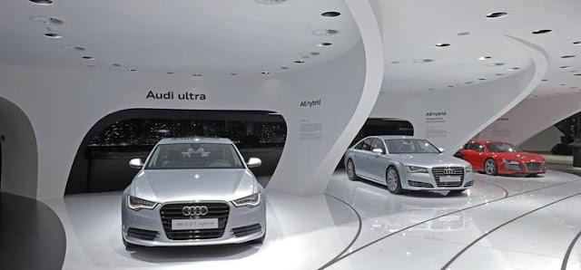 Audi cars in the Audi Ring