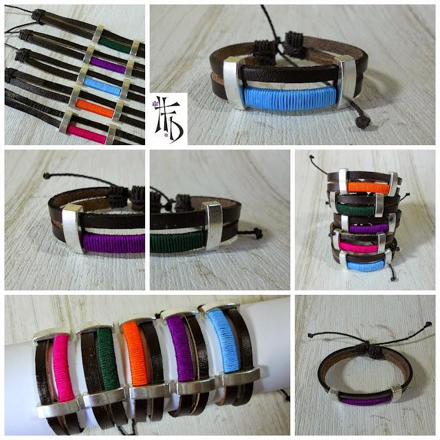 ADAN #02. Pulsera de cuero para hombre · Mens leather bracelet