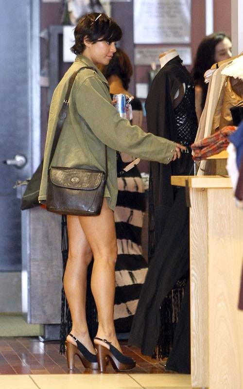 Vanessa Hudgens Shopping With Her Sister Stella Disney