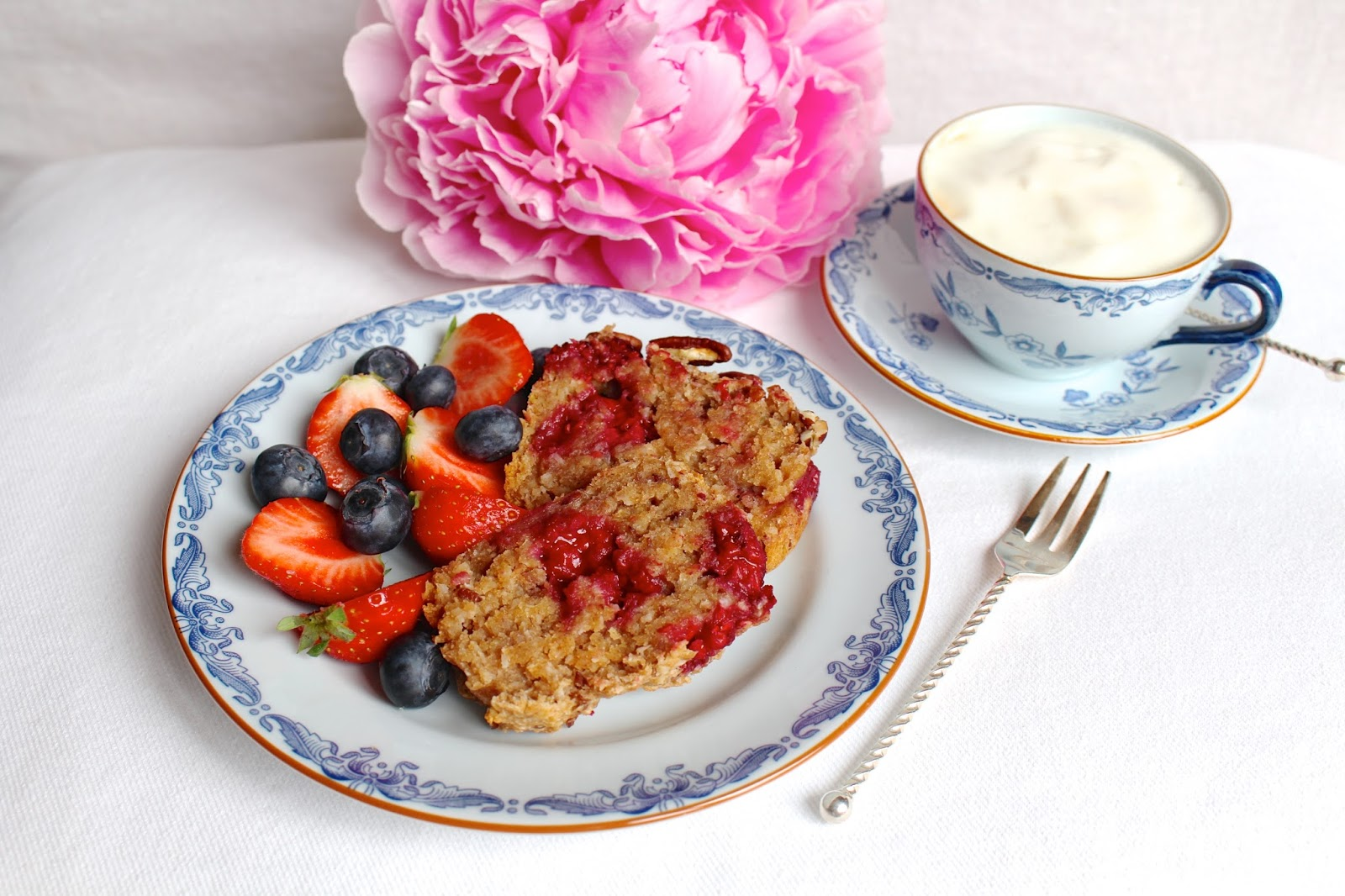 Raspberry coconut breakfast cake recipe