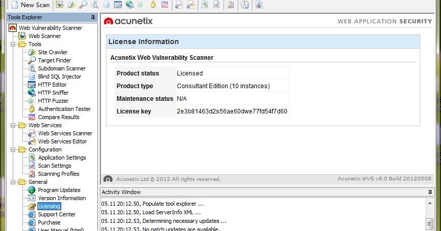 Security Website Scanner Vulnerability