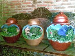 Contoh Miniatur Taman Dalam Rumah Dengan Gentong