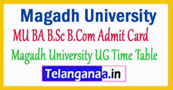Magadh University Admit Card 2017-18 BA B.Sc B.Com Admit Card