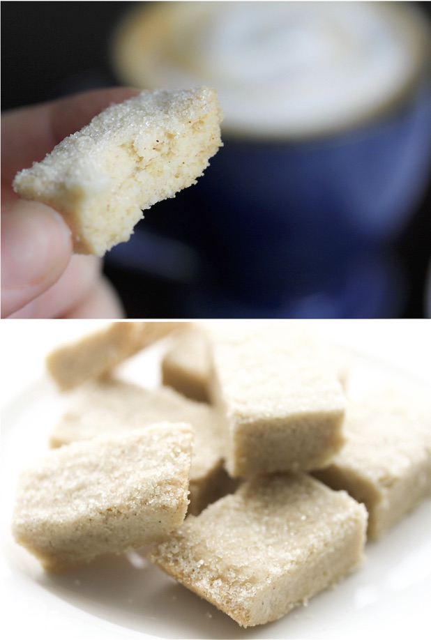 Modern day spiced shortbread cookies