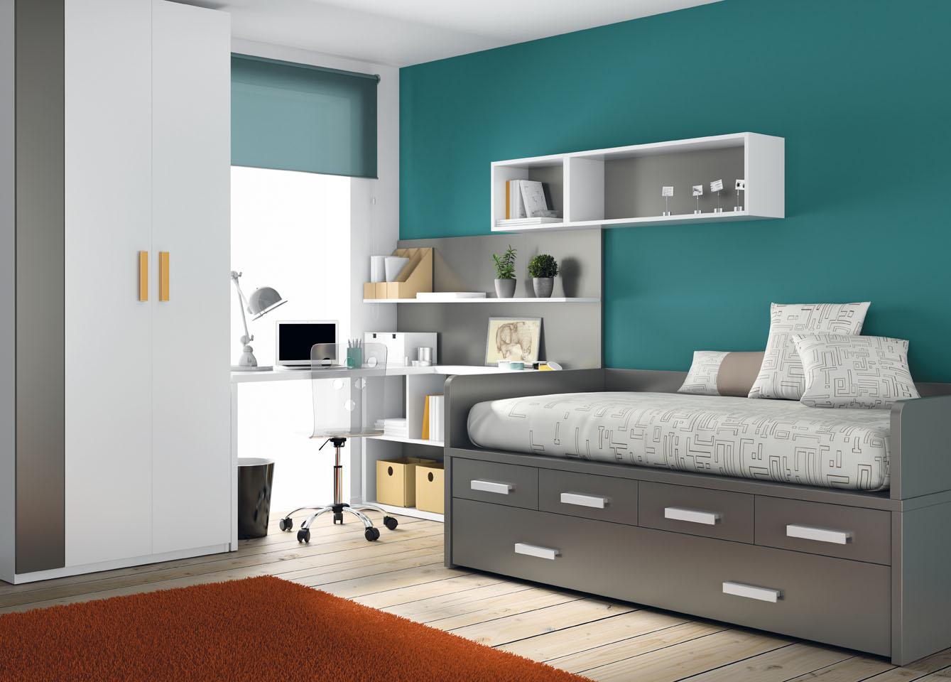 Muebles ros habitaciones para j venes econ micas y de dise o - Decoracion de paredes de dormitorios juveniles ...