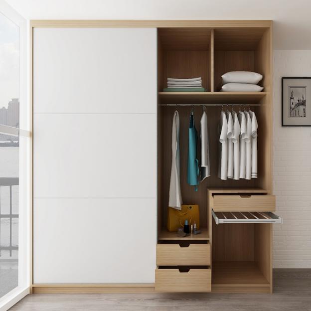 model lemari pakaian gantung pintu geser