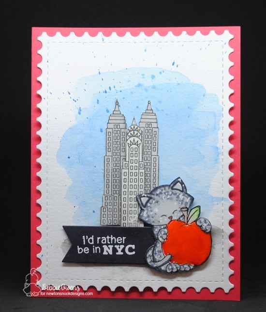 I'd rather be in NYC by Debbie features Newton Dreams of New York, Framework, and Frames & Flags by Newton's Nook Designs; #newtonsnoo