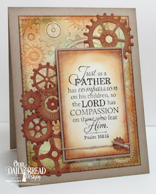 ODBD Good Man, ODBD Custom Steampunk Gears Dies, ODBD Custom Double Stitched Rectangles Dies, Card Designer Angie Crockett
