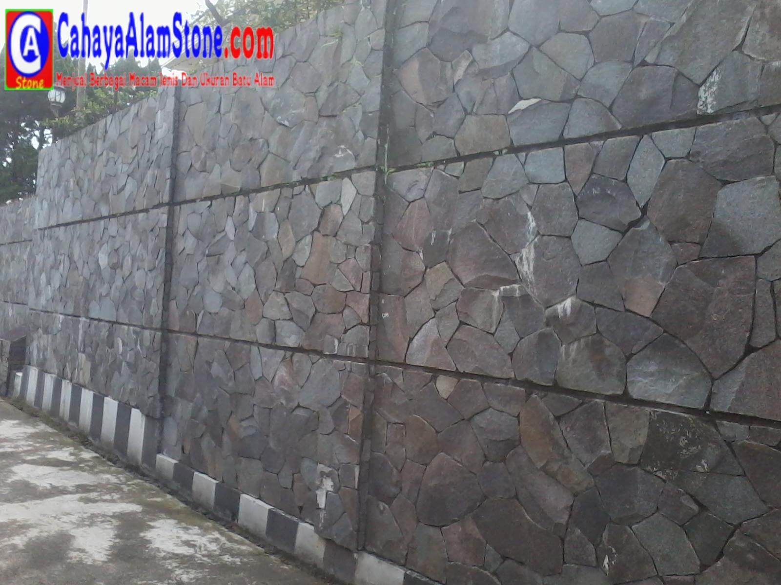 Batu Alam Hitam Untuk Dinding Depan Rumah Sepil Alam Stone