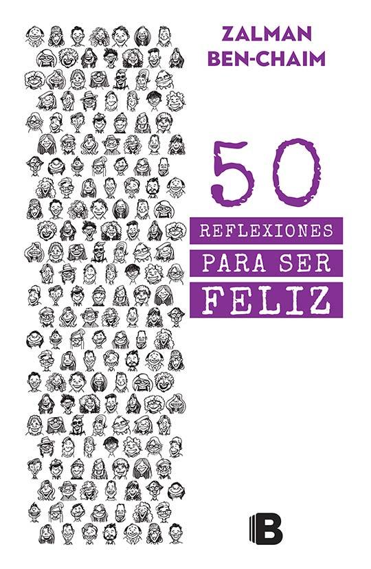 Ilustración y diseño de portada para el libro 50 reflexiones para ser feliz