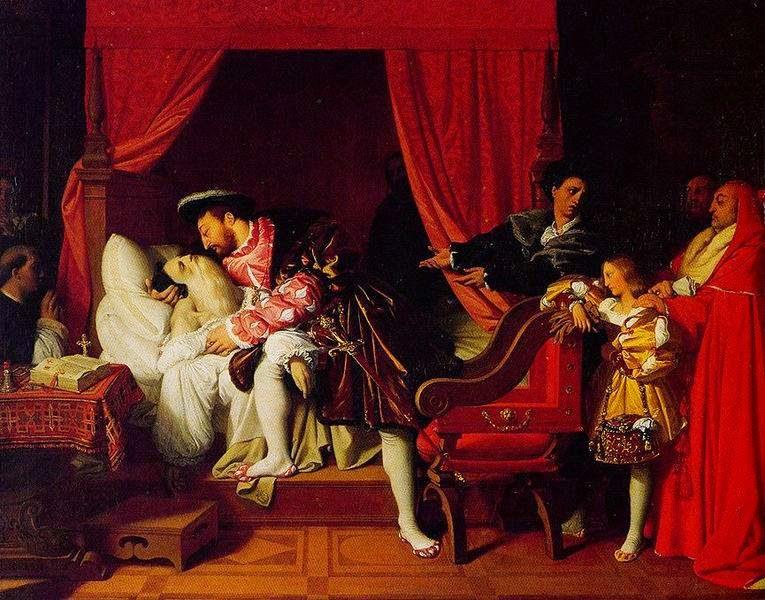 A Morte de Leonardo Da Vinci - Ingres e suas principas pinturas ~ Neoclassicismo