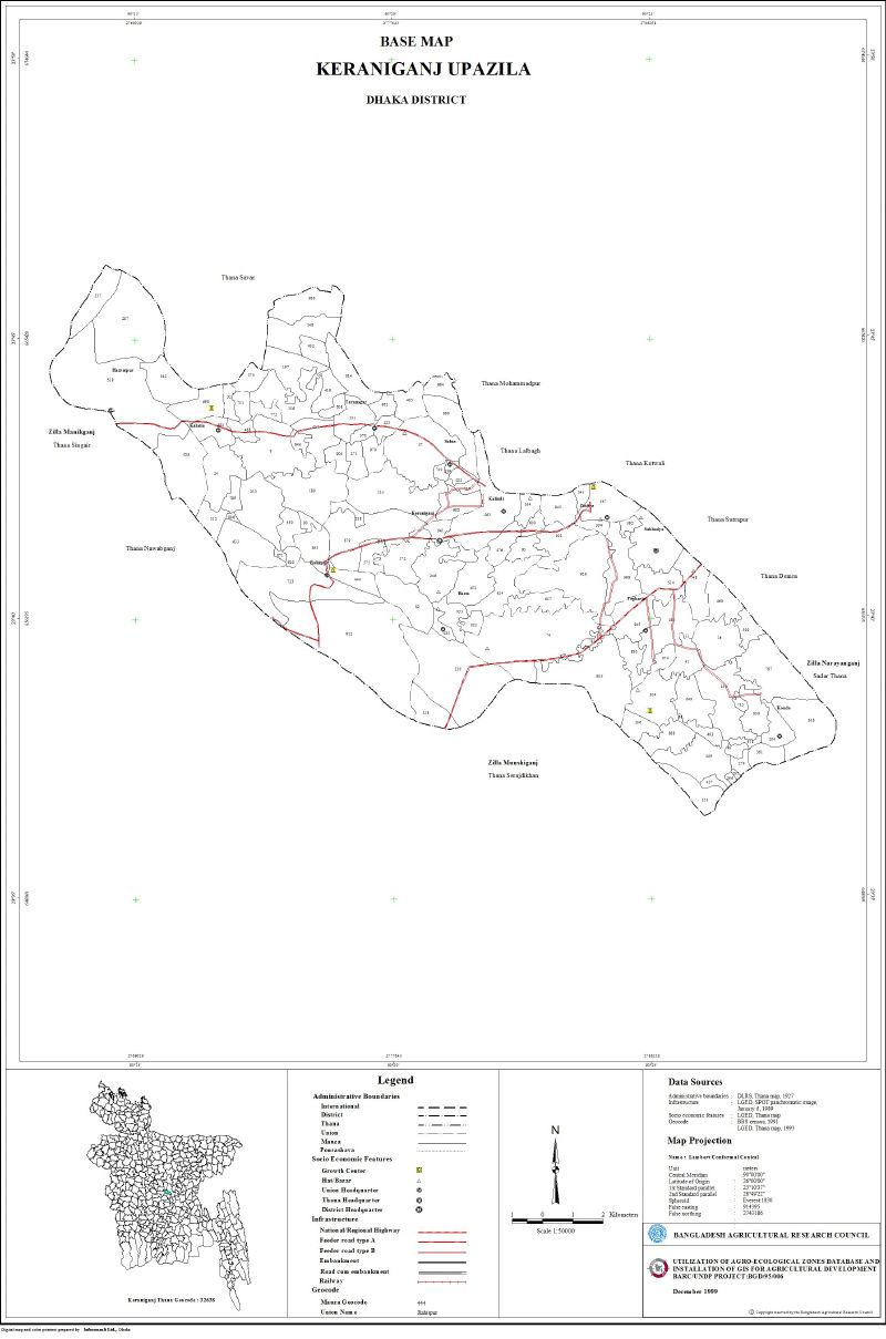 Keraniganj Upazila Mouza Map Dhaka District Bangladesh