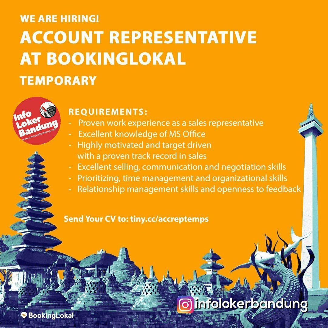 Lowongan Kerja Account Representative Booking Local Bandung Februari 2019