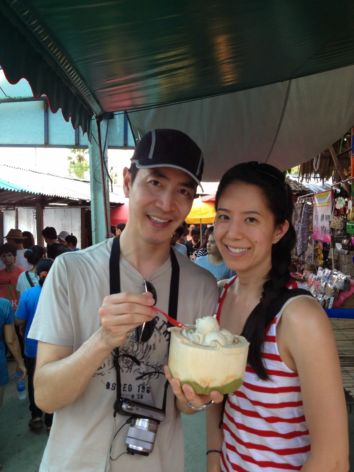 Ayutthaya - Ayothaya Floating Market - Can't wait to dig into that coconut ice cream