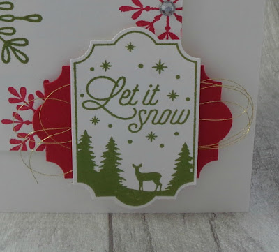 Stampin' Up! UK Independent  Demonstrator Susan Simpson, Craftyduckydoodah!, Merry Little Labels, Snowflake Sentiments, Supplies available 24/7 from my online store,