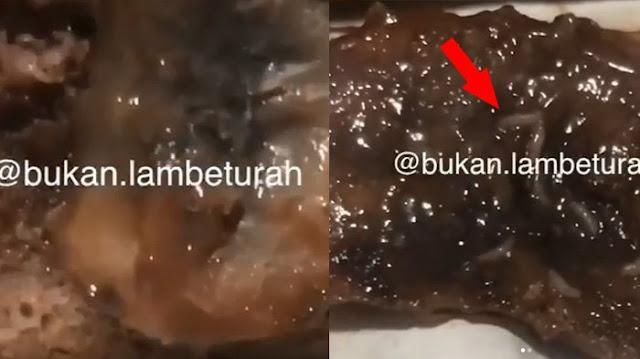 Viral! Netizen Mengaku Temukan Belatung Dalam Kue yang Baru Saja Dibeli, Lihat Videonya
