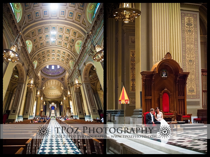 Cathedral Basilica of Saints Peter & Paul wedding
