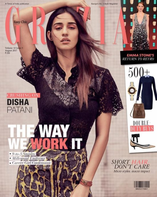Disha Patani On The Cover of Grazia Magazine India August 2017